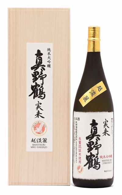 MANOTSURU Miku Koshitanrei Junmai Daiginjo1800ml